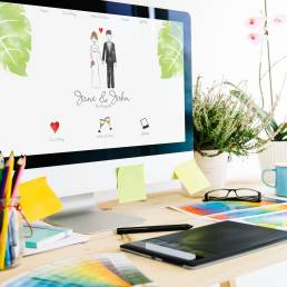 Graphic design trouwontwerp